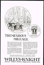 1922 Old Vintage Willys Knight Sleeve Valve Motor Car Automobile Art Print Ad