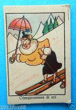 figurines cromos cards figurine umoristiche anni 30 40 v.a.v. vav sci ski skiing