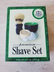 Van Der Hagen Premium Shave Set (2.5 oz. Soap, Bowl, Brush) Men Shaving Kit Gift