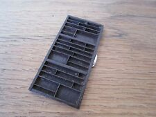 1/12 DOLLHOUSE MINIATURE WOOD PRINTER'S TRAY CURIO DISPLAY ARTISAN SIGNED