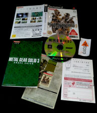 METAL GEAR SOLID 3 SNAKE EATER PlayStation 2 PS2 Japones Konami Hideo Kojima