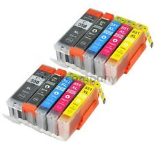 10 Ink Cartridge for PGI-550 CLI-551 for Canon MG5550 IP7250 MG5450 MG6350 MX925
