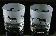 More details for weimaraner dog gift whisky glasses