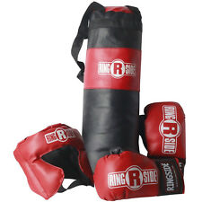 Ringside Youth Boxing Set, Gloves, Headgear, Punching Bag - Kids Training Gear