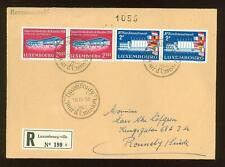 Luxembourg B21 FDC 1958 4v registered Exhibition Bruxelles