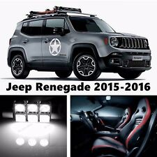13pcs LED Xenon White Light Interior Package Kit for Jeep Renegade 2015-2016
