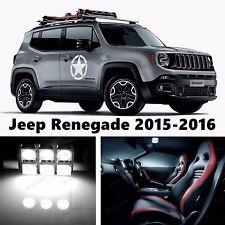 13pcs LED Xenon White Light Interior Package Kit for Jeep Renegade 2015-2016