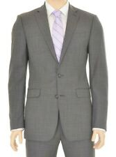 Mens Calvin Klein Solid Charcoal Regular Fit Two Button 100% Wool Sportcoat 42R