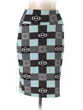 New Women Lularoe Cassie Light Green Gray Black Pencil Straight Skirt Size S