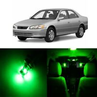 8 x Green LED Interior Lights Package For 1997 - 2001 Toyota Camry + PRY TOOL
