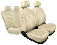 CAR SEAT COVERS full set fit Peugeot 407 - beige (MC3)