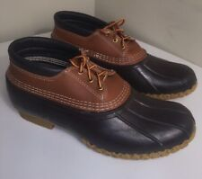 LL BEAN Maine Hunting Duck Boots Brown Leather Low Ankle Waterproof Men's 11