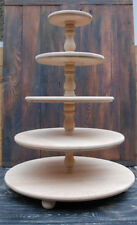 5 tier wooden stand, Wedding Cupcake Cake Stand, centerpiece, large stand,Rustic
