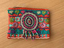 NEW Beaded And Embroidered Coin Purse