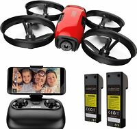 U61W Drones for Kids with Camera, Mini RC Quadcopter with 720P HD WiFi FPV Camer