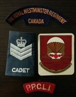 Vintage Canadian Military Patches and decal