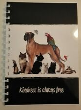2018  year diary animals ' kindness is always Free' quote A5