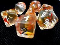 dice4friends RPG Würfel Set 7 Poly DND Rollenspiel orange sea salt HD Dice