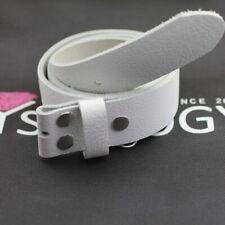 Ledergürtel Echtleder weiß Rindsleder für 4cm Wechselschließen Schnallen LG04