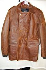 POLO JEANS CO BY RALPH LAUREN  HEAVY MEN LEATHER PEA COAT/ JACKET   M/L