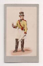 Vintage CDV Handpainted Man Baden Baden Germany Traditional National Costume