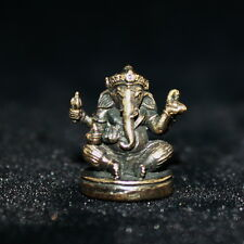 OM GANESHAY NAMAH GANESHA ELEPHANT GOD HINDU THAI AMULET STATUE SUCCESS OBSTACLE