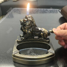 lion Shape Novelty Cigarette cigar Ashtray Ash Tray with Refillable lighter