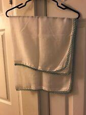 New listing Vintage 1 Piece Set Elegant Kitchen/Dish Towels Beaded all around the Edge! Blue