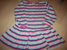 NEXT SOFT JERSEY STRIPES TUNIC DRESS 18-24 M PINK GREY