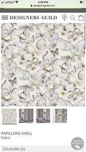 "Designers Guild ""Papillons Shell"" Cotton Fabric, 145cmx100cm"