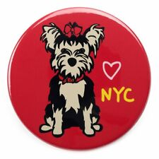 "*NWT* Marc Tetro - Yorkie NYC Red Magnet 3"" Round"