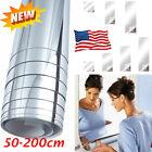Mirror Wall Sticker Self Adhesive Mirror Sheets for DIY Art Home Decor 50*200CM