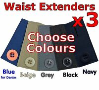 Maternity Pants Extender - Pregnancy Waistband Expander Trousers Jeans Skirt UK