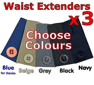 Maternity Pants Extender Waistband Expander Pregnancy Trousers Jeans Skirt UK