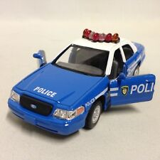 "Ford Crown Victoria Police Interceptor 5"" Diecast 1:42 Pull Back Kinsmart Toy BL"
