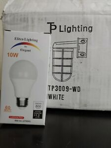 TP Lighting White Exterior Sconce TP3009-WD Includes 1 LED Bulb