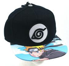 Naruto Anime Black / Blue SnapBack Hat Baseball Style Cap