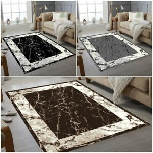 Luxury Marble Collection Small Extra Large Living Room Floor Carpet Rugs