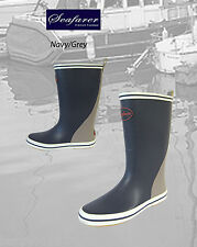 Seafarer Grey Welly Boots - Boating Sailing Wellington Boots Outdoor Boots