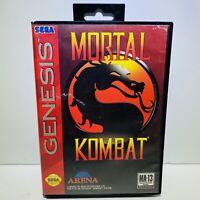 Mortal Kombat (Sega Genesis, 1993) Complete - Tested - Authentic CIB With Manual
