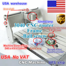 【USA Stock】 3040 CNC Router milling machine Frame ballscrew & 300w DC spindle