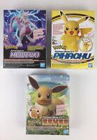 Bandai Pokemon Mewtwo Model Kit Pikachu Model Kit Eevee Model Kit Made In Japan