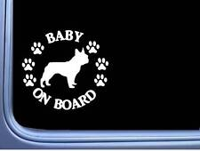 """Baby on Board Frenchie L513 6"""" Sticker French bulldog decal"""