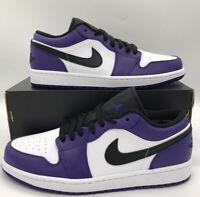 Nike Jordan 1 Low Court Purple White Brand New In Box Size 9.5 553558-500