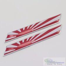 2x3D Japan Flag Fender/Trunk Emblem Badge Sticker Fits Toyota/Honda/Nissan/Mazda