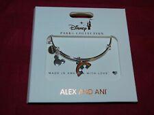 Disney Parks Alex and Ani Gay Pride Mickey Rainbow Silver Charm Bracelet New
