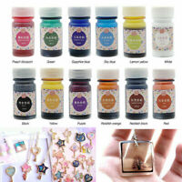 12 Pcs Coloring Liquid UV Pearl Dye Epoxy Colorant Jewelry Making Resin Pigment
