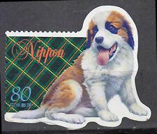 Japan gestempelt 80y Bernhardiner Hund Tier Haustier Tierwelt Natur / 410