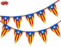 Catalan Flag Bunting Banner Stylish Patriotic party decoration by PARTY DECOR