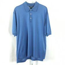 Brooks Brothers Country Club Mens Performance Knit Polo Shirt Blue Pin Dot Sz L
